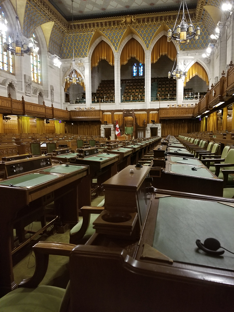 House of Commons, no Parlamento Canadense